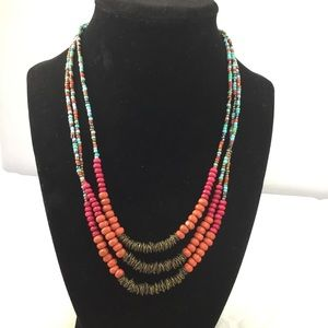 ZAD Layered Beaded Necklace (G2)